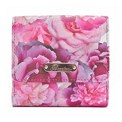 Buxton Brilliant Floral RFID-Blocking Mini Billfold Wallet