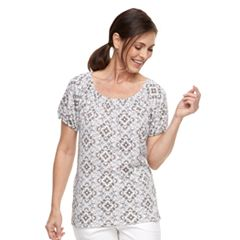 Women's Croft & Barrow® Smocked Top