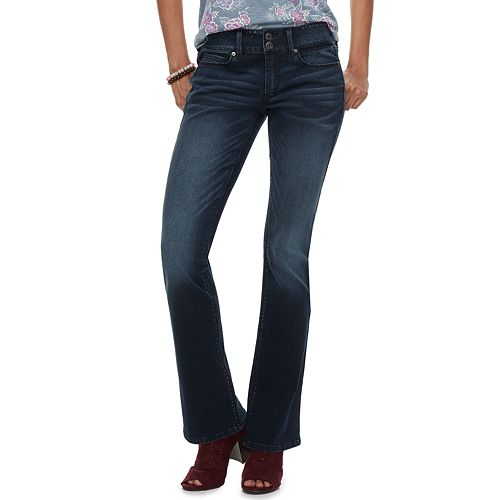 80deadb577 Juniors  Mudd® Low-Rise Slim Bootcut Jeans
