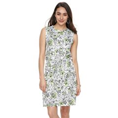 Women's Nina Leonard Floral Blouson Dress