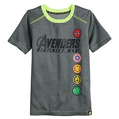 Boys 4-10 Marvel Hero Elite Series Avengers Infinity Wars Collection for Kohl's Shields Active Tee