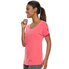 Women's Tek Gear® Lattice Shoulder Short Sleeve Tee