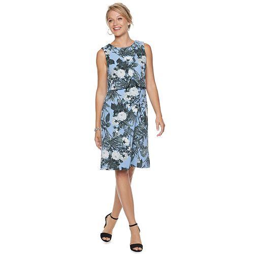 Women's Nina Leonard Popover Shift Dress