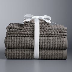 Simply Vera Vera Wang 6-piece Portugal Textured Bath Towel Set