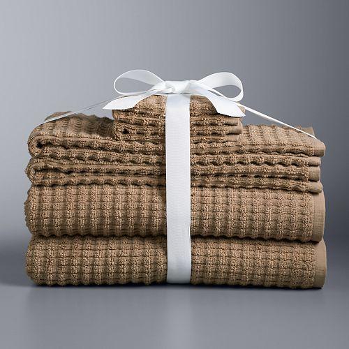 Simply Vera Vera Wang 6-piece Portugal Textured Bath Towel Set