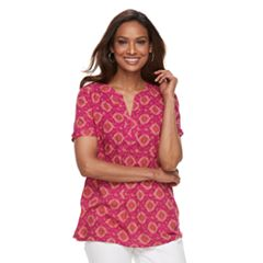 Women's Croft & Barrow® Print Popover Top