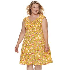 Plus Size Suite 7 Floral Dress