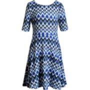 Girls 7-16 Emily West Bow Back Reversible Dress