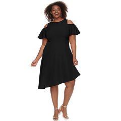 Plus Size Suite 7 Cold-Should Asymmetrical Dress