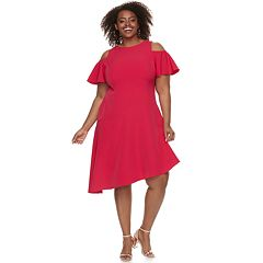 Plus Size Suite 7 Cold-Should Asymmetrical Dress