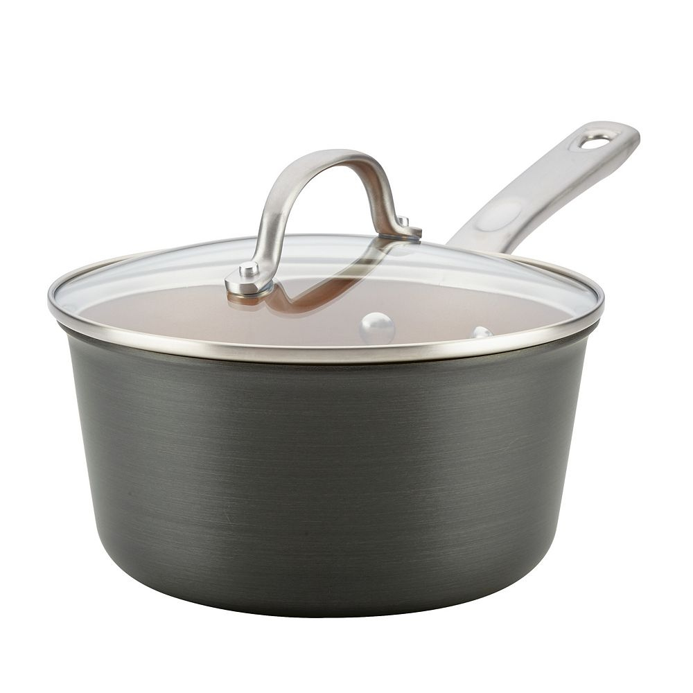 Ayesha Curry Home Collection 3-quart Hard-Anodized Aluminum Covered Saucepan