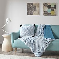 Intelligent Design Emma Shaggy Faux Fur Throw