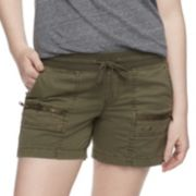 Women's SONOMA Goods for Life? Zipper Accent Pull-On Utility Shorts