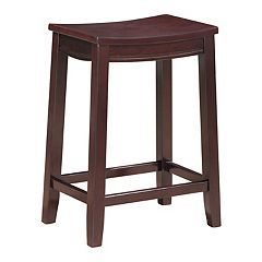 Linon Aubree Saddle Counter Stool