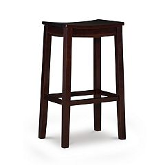 Linon Aubree Saddle Bar Stool