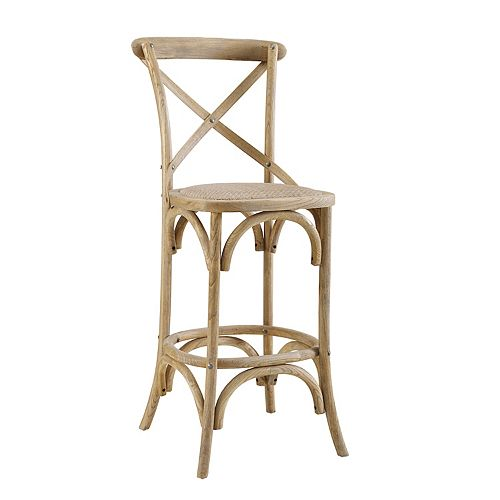 Linon French Country Wood Counter Stool