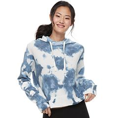Juniors' SO® Tie-Dye Crop Hoodie