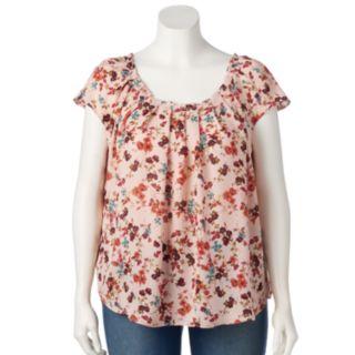 Plus Size LC Lauren Conrad Love, Lauren Pleated Top