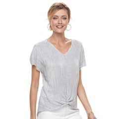 Women's Dana Buchman Twist-Front Textured Top