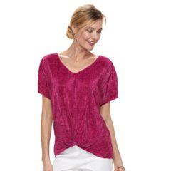 Women's Dana Buchman Twist-Front Textured Top