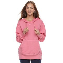 Juniors' SO® Oversized Pullover Tunic Hoodie