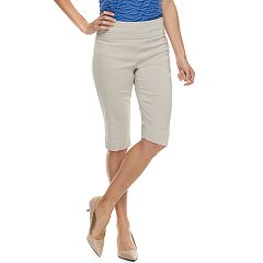 Women's Dana Buchman Midrise 14-in. Pull-On Skimmer Capris