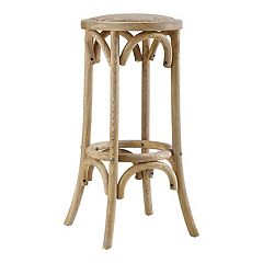 Linon Rae Backless Wood Bar Stool