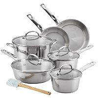 Ayesha Curry Home Collection 11 pc Stainless Steel Cookware Set