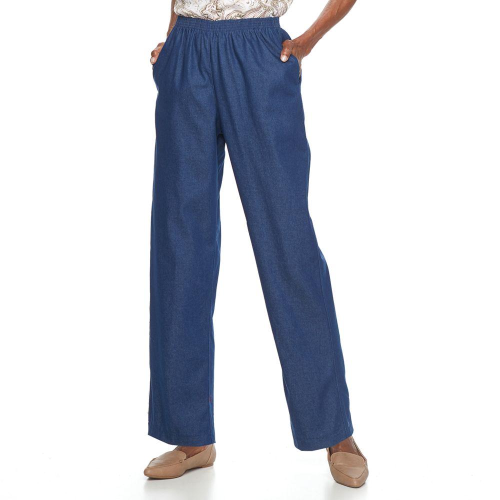 Petite Alfred Dunner Pull-On Denim Pants