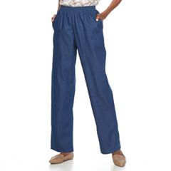 Petite Alfred Dunner Studio Pull-On Denim Pants