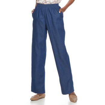 Petite Alfred Dunner Studio Pull-On Denim Pants