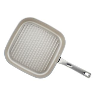 Ayesha Curry Home Collection 11.25-inch Porcelain Enamel Nonstick Square Grill Pan