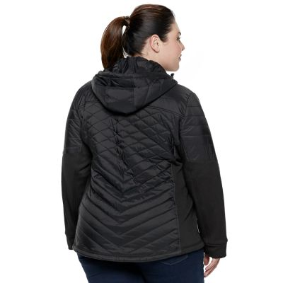 Plus Size Be Boundless Hooded Mixed-Media Jacket
