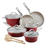 Ayesha Curry Home Collection 12-piece Porcelain Enamel Nonstick Cookware Set