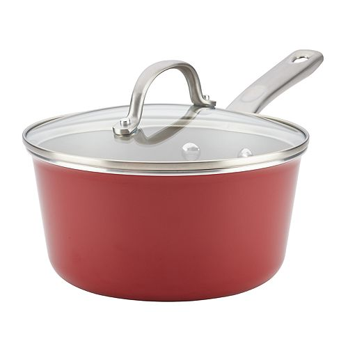 Ayesha Curry Home Collection 3-quart Porcelain Enamel Nonstick Covered Saucepan