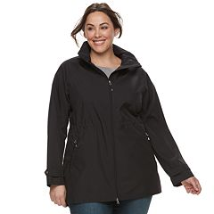Plus Size Be Boundless Hooded Anorak Rain Jacket
