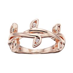 LC Lauren Conrad Simulated Crystal Midi Twig Ring