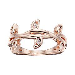 LC Lauren Conrad Simulated Crystal Midi Twig Ring