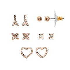 LC Lauren Conrad Eiffel Tower Nickel Free Stud Earring Set