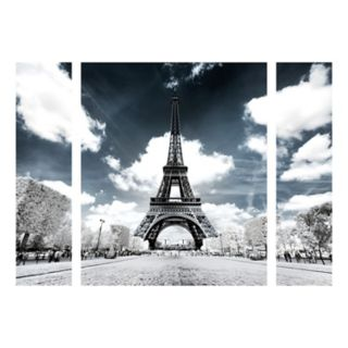 Trademark Fine Art Another Look At Paris Eiffel Tower Canvas Wall Art 3-piece Set