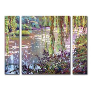 Trademark Fine Art Homage To Monet Canvas Wall Art 3-piece Set