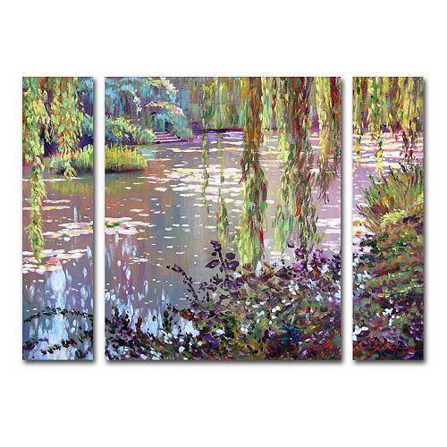 Trademark Fine Art Homage To Monet Canvas Wall Art 3-piece Set
