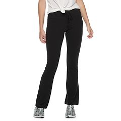 Juniors' SO® Tie-Waist Skinny Bootcut Yoga Pants