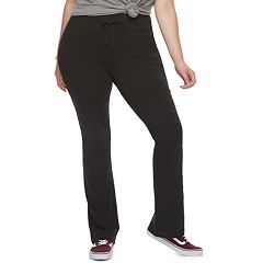 Juniors' Plus Size SO® Black Skinny Bootcut Yoga Pants
