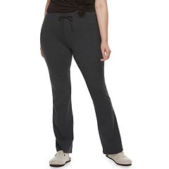 Juniors' Plus Size SO® Tie-Waist Skinny Bootcut Yoga Pants