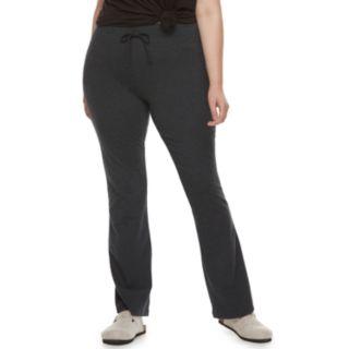 Juniors' Plus Size SO® Tie-Waist Skinny Bootcut Yoga Pants