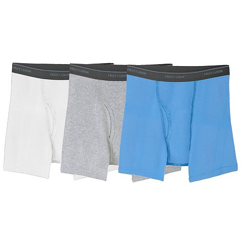 0bfa59cd3cca24 Boys 4-20 Fruit of the Loom 3-Pack Husky Boxer Briefs