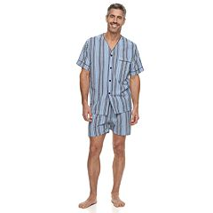Men's Residence Summer Shells Striped Seersucker Pajama Set