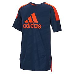 Boys 4-7x adidas climalite Moto Camouflage Embossed Pieced Top