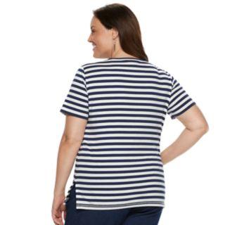 Plus Size Alfred Dunner Studio Diagonal Stripe Top